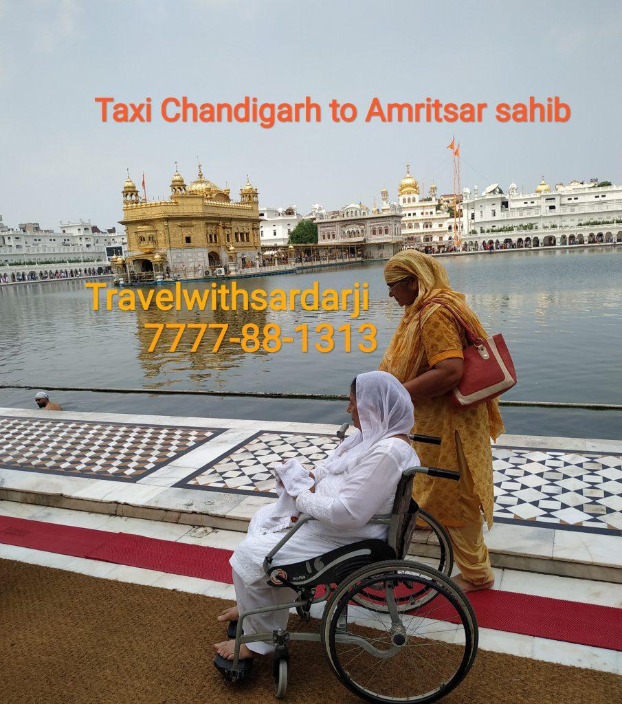 Best taxi Chandigarh to Amritsar sahib