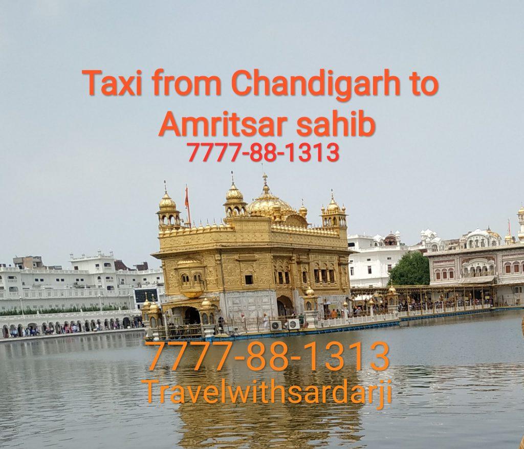 Rent a taxi Chandigarh To Amritsar Sahib