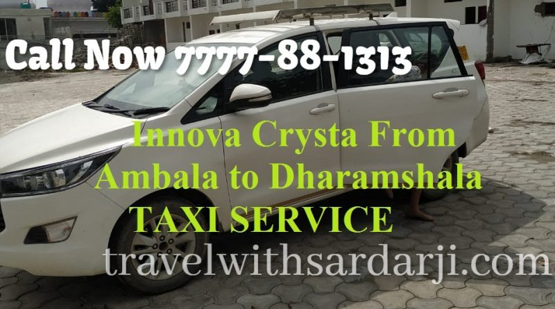 Book Innova Crysta From Ambala to Dharamshala | outstation | one way and round trip 7777-88-1313