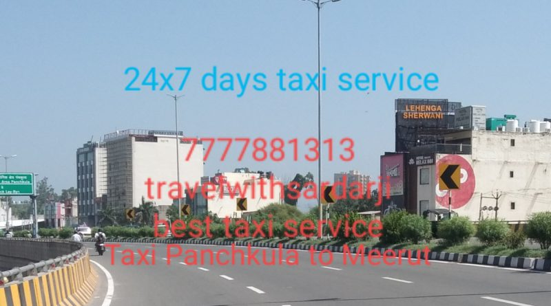 Hire taxi Panchkula to Meerut | 50% off | Book one way taxi/cab Panchkula to Meerut| Call 7777881313 for best price
