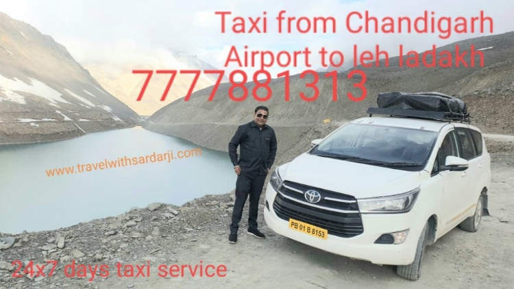 Hire taxi from Chandigarh Airport to leh and ladakh | Book taxi/cab Chandigarh to leh ladakh | Rent taxi leh to Chandigarh | Call 7777881313 for best price